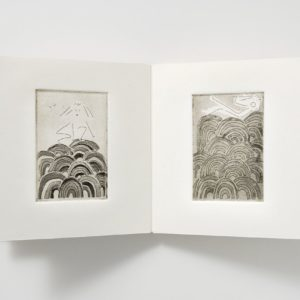 "Abundance Is Real (2008). Etching On Handmade Paper Covers And Fabriano Pages, Varied Edition Of 5; 4.5 X 4.75 X 0.75"". Various Collections."
