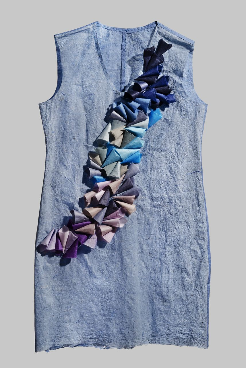 "Dress 1 (2012). Hanji. 32 x 18 x 1"". Private collection."