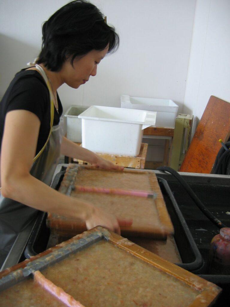Hunk, & Dora papermaking