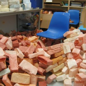 Bricks Piling Up In The Studio