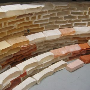 Glued Sections Of Wall