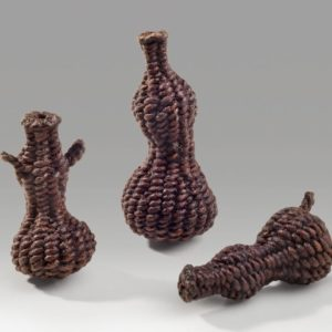 "Miniature Gourds (2014). Lacquer On Hanji. 1.75"", 2.5"", And 2"" Tall."