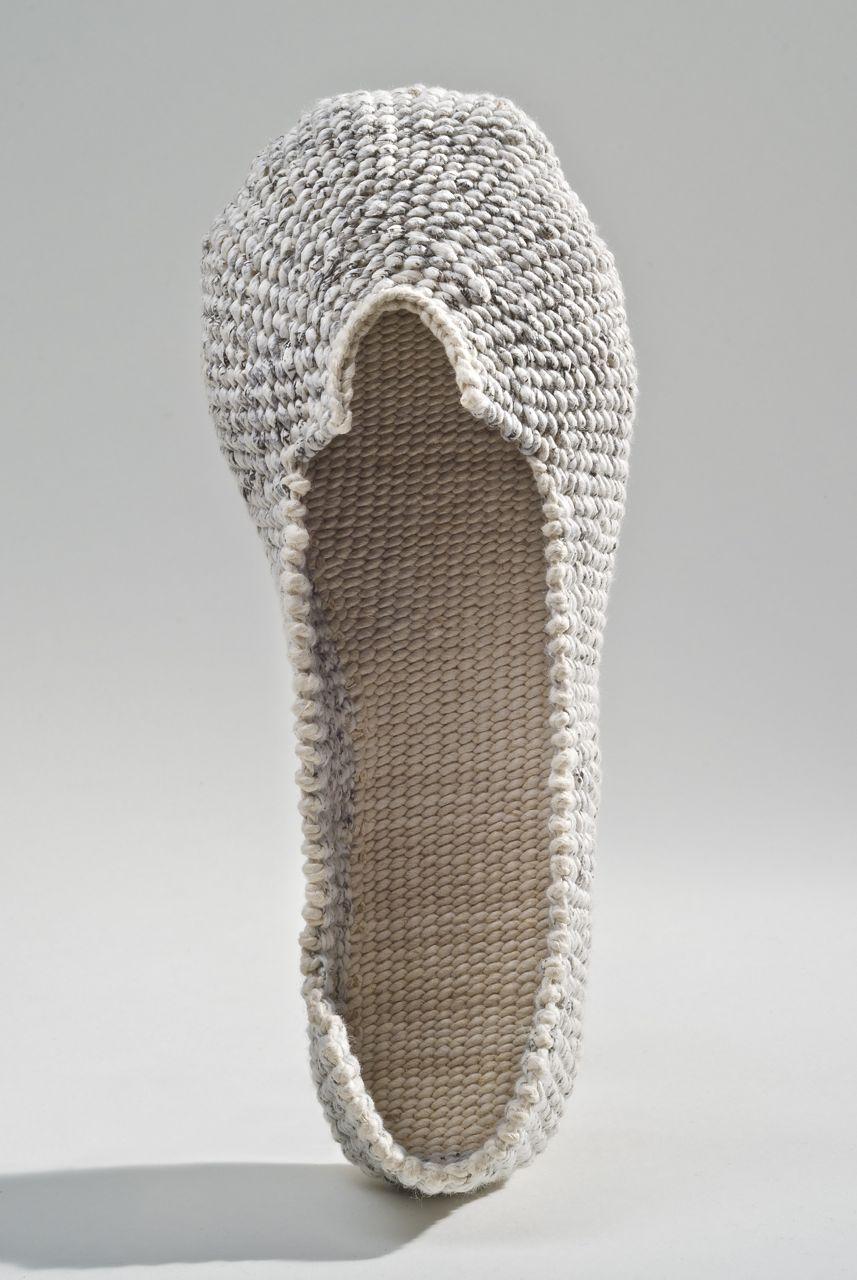 """Paper shoe (2013). Hanji. 9 x 3.5 x 2.75""""."""