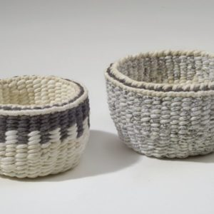 """Two Cups (2012). Ink, Hanji. 1.5 And 2"""" High. Private Collections."""