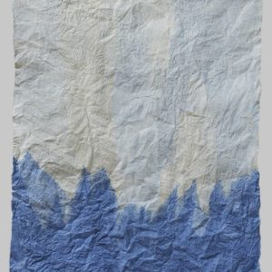 "Blue Peaks (2011). Felted Hanji, 27.5 X 23"". Private Collection."