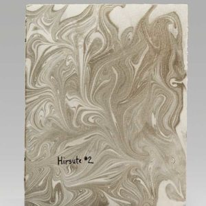 "Hirsute #2 (2016). Ink And Suminagashi On Rives BFK And Handmade Prairie Cord Grass Paper. 7 X 5.5"" Closed. MIA."